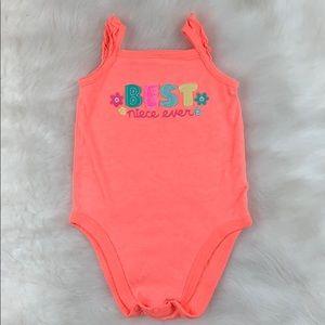 Baby Jumping Beans Best Niece Orange Onesie 12M